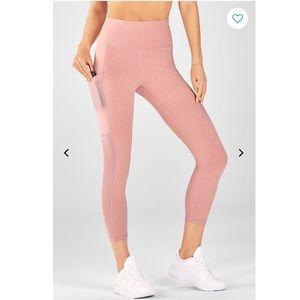 New fabletics mila pink capris high waist leggings